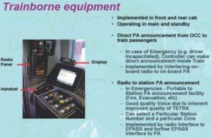 Trainborne equipment